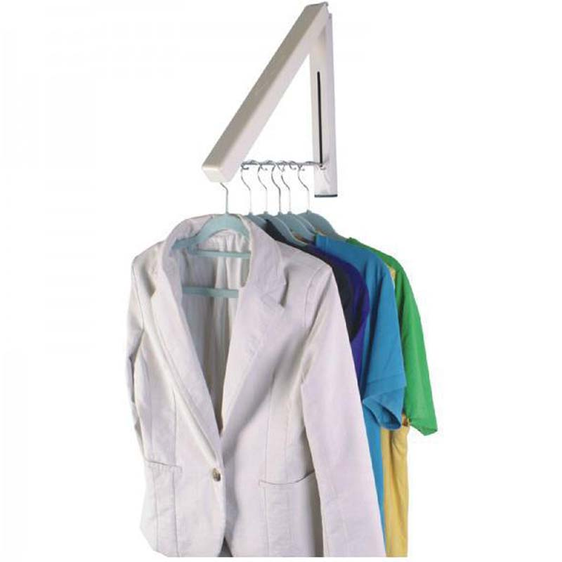 Simple Magic Stainless Steel Wall Hanger Stealth Indoor Clothes Hanger Foldable Drying Rack Waterproof Clothes Towel Rack