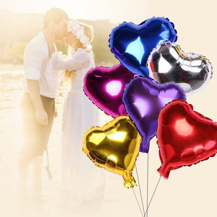 10 PCS/Lot 10 inch Heart Shaped Foil Balloon Valentine's Day Wedding Birthday pa