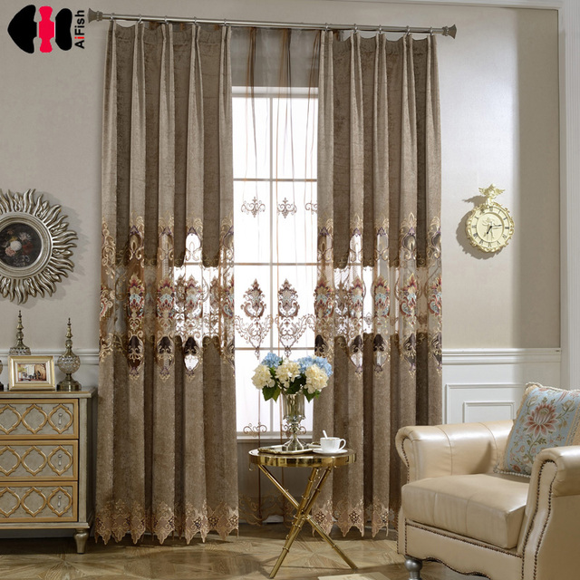 Chinese Style Phoenix Window Panels Jacquard Luxury Curtains For Bedroom  Blockout Blinds Drapes WP017C