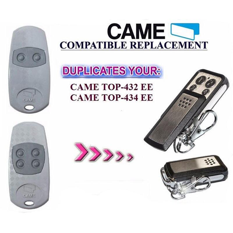 2pcs CAME TOP 432EE 434EE 4 Button Garage Door Remote Copy/Duplicator 2pcs rib sun t433 2ch 4ch 4 button garage door hand remote key copy duplicator fixed code