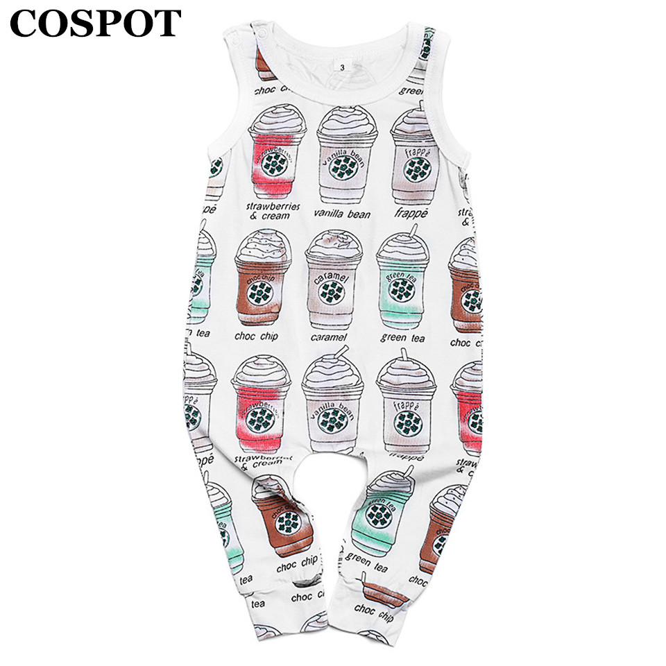 COSPOT Baby Boys Girls Harem Romper Newborn Summer Cotton Tank Jumpsuit Kids Drop Crotch Fashion Floral Jumper 2018 New 42E puseky 2017 infant romper baby boys girls jumpsuit newborn bebe clothing hooded toddler baby clothes cute panda romper costumes