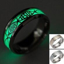 Unisex Luminous Ichthus Rings