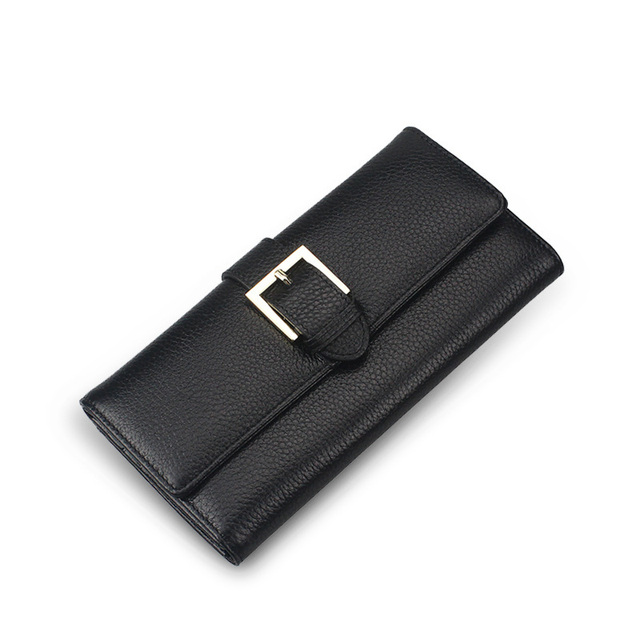Fashion New Designed Women Wallet Genuine Leather Female Long Bank Credit Cards Holder Bags Lady High Quality Coin Purse Wallets