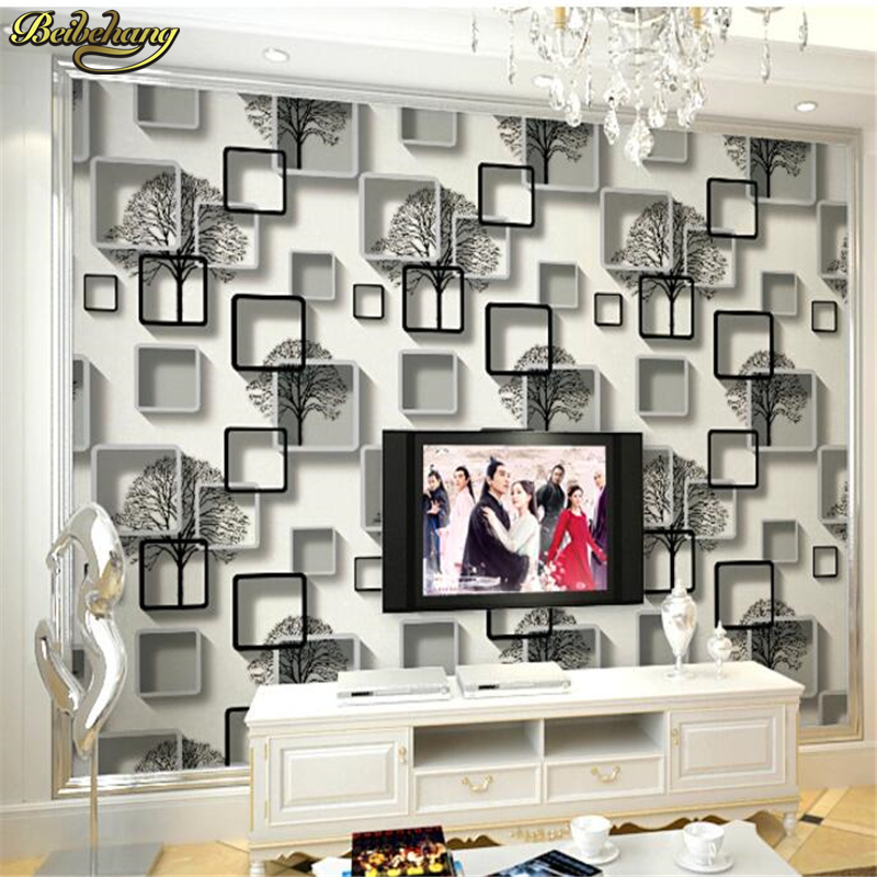 beibehang Living room TV wall wallpaper 3D stereo home decoration bedroom wallpaper hotel hotel theme room papel de parede r54 hotel room