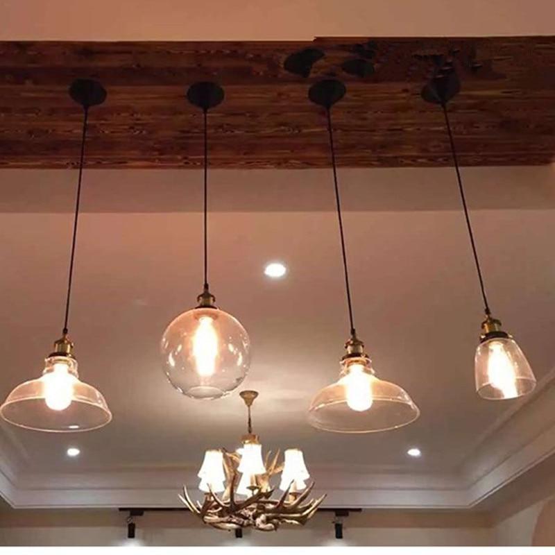 Vintage hanglamp kom glazen hanglamp Edison licht hanglamp Keuken - Binnenverlichting - Foto 5