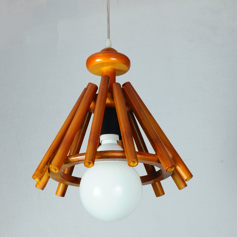 American County Vintage Bamboo Wood Restaurant Chandelier Creative Small Staw Mettress Balcony Bar Cafe Chandelier Free Shipping