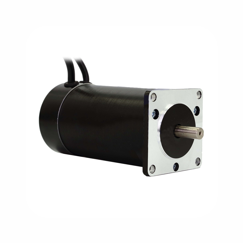 купить Square flange 57mm Round body 24V 3000RPM 131W 0.42N.m Brushless DC Motor 3phase body length 115mm BLDC motor онлайн