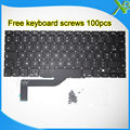 "5PCS---Brand New AZERTY FR French keyboard+100pcs keyboard screws For MacBook Pro Retina 15.4"" A1398 2013-2015 Years"