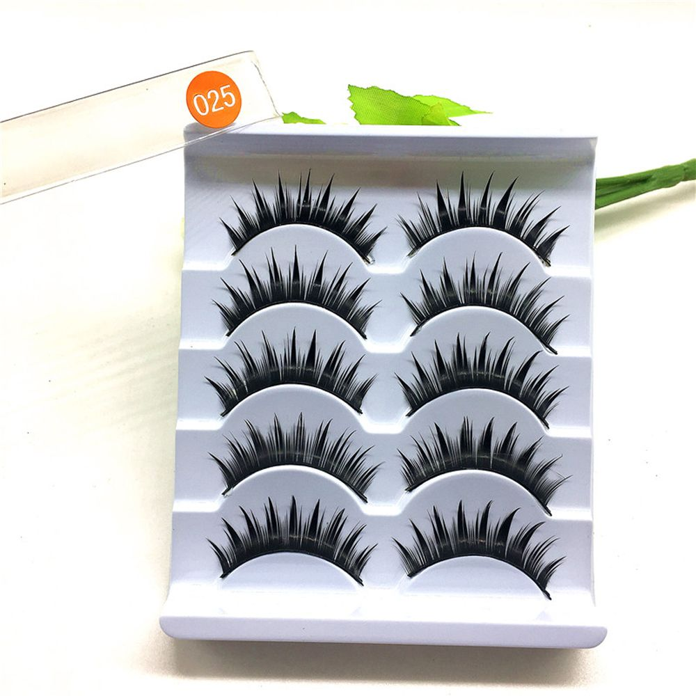 5 Pairs New Beauty Thick Long False Eyelashes Handmade Black Eye Lashes Extension High Quality Makeup Tools