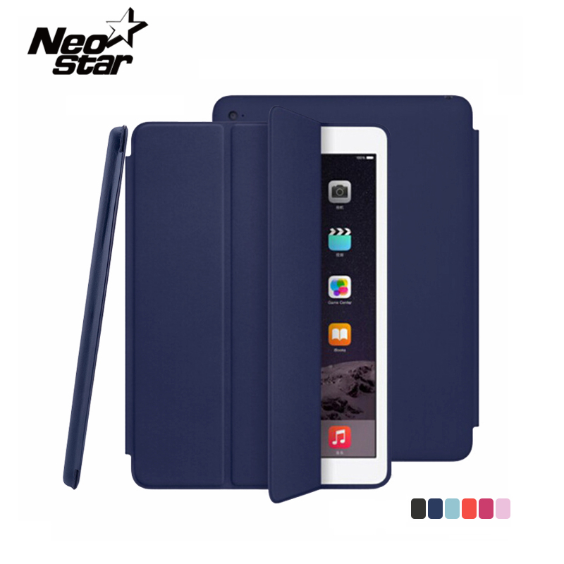 все цены на Original Flip PU Leather Case For Apple IPad Pro 9.7 Inch Smart Stand Magnetic Auto Sleep Wake UP Pouch Cover Tablet Cases New онлайн