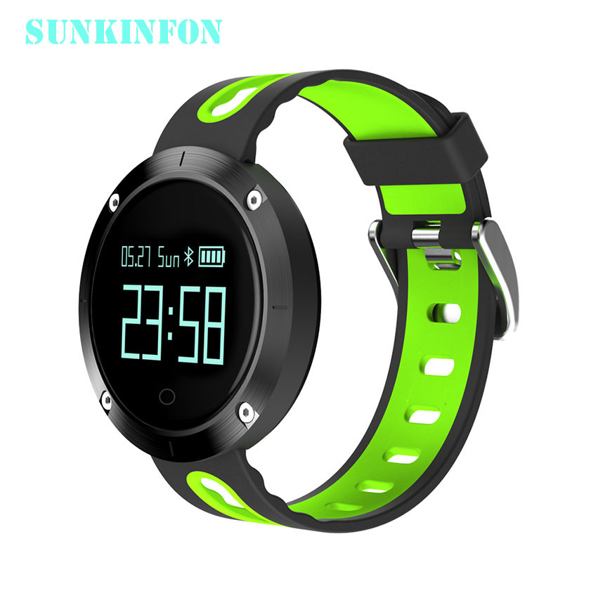 SKF58 Bluetooth Sports Smart Wristband Watch Heart Rate Blood Pressure Fitness Tracker Waterproof for iPhone 7 Plus 6 6S Plus 5S
