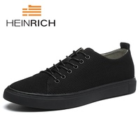HEINRICH New 2018 Brand Men Flat Shoes Summer Fashion Male Shoes Comfortable Classic Men Casual Shoes Tenis Masculinos