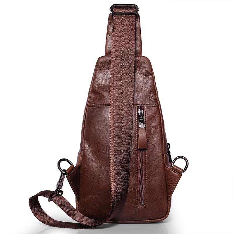 marca de couro genuíno ocasional Tipo de Ítem : Chest Pack/shoulder Bag