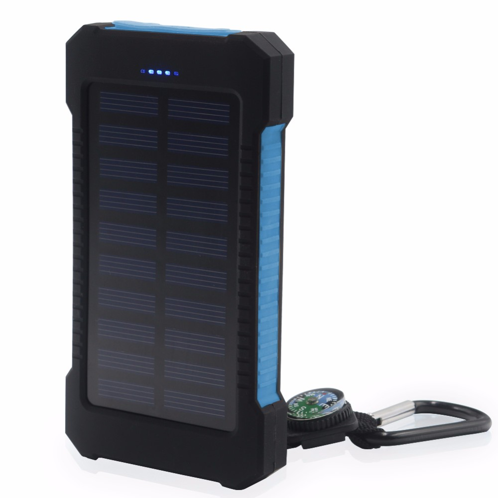 FGHFG Solar Panel Tragbare Wasserdicht Power Bank 18000 mah Dual-USB Solar Batterie Power für Alle Telefon Universal Batterien