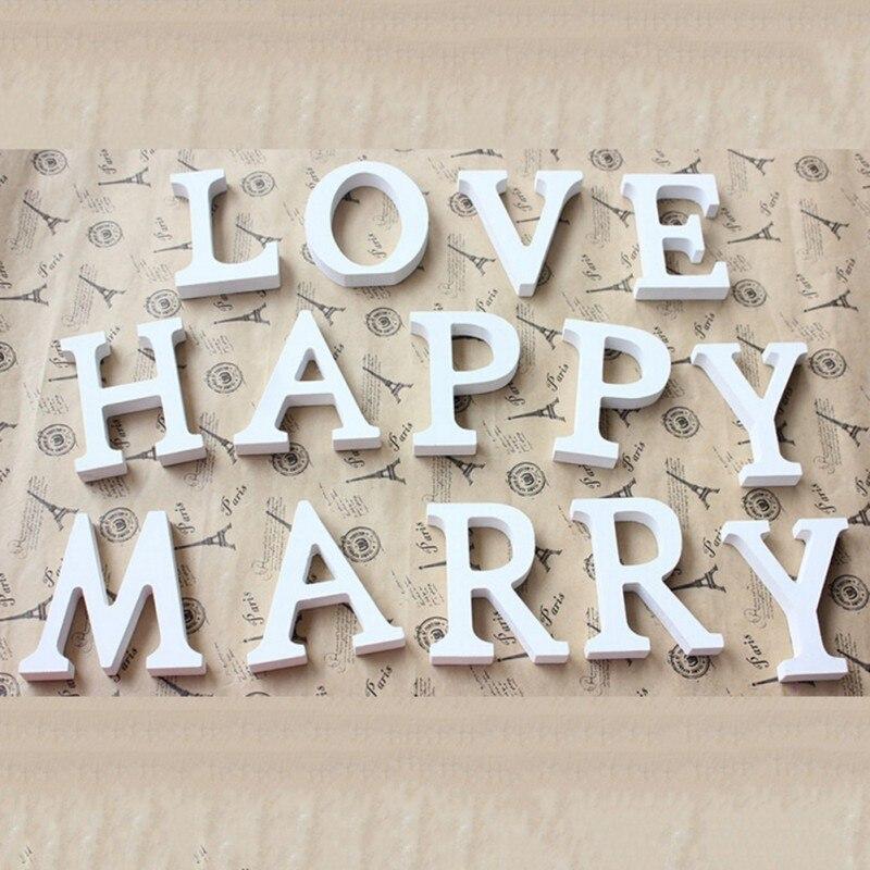 Aliexpress.com : Buy White Wooden Alphabet Letters Wood ...