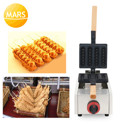 LPG Gas Muffin Corn Hot Dog Waffle Machines 4pcs Lolly Waffle Sticks Makers French Sausage Waffle Dog Baker Pan