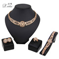Women  Gold Plated Fashion Bridal Wedding Elegant Romantic Dubai African CostumeJewelry Sets