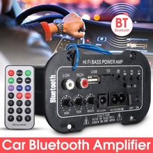2018 Новый 1 комплект усилитель автомобильный Bluetooth HiFi бас Мощность AMP стерео цифровой усилитель USB TF пульт дистанционного управления для автомобилей аксессуары для дома