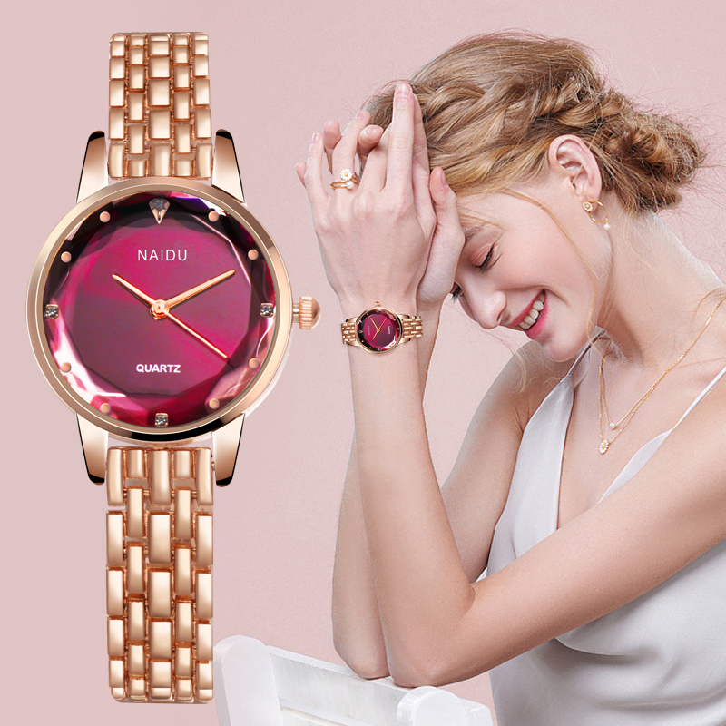 Women Watches Ladies Bracelet Watch Quartz New NAIDU Rose Gold Dress Wristwatch Casual Relogio Feminino Reloj Mujer Kol Saati