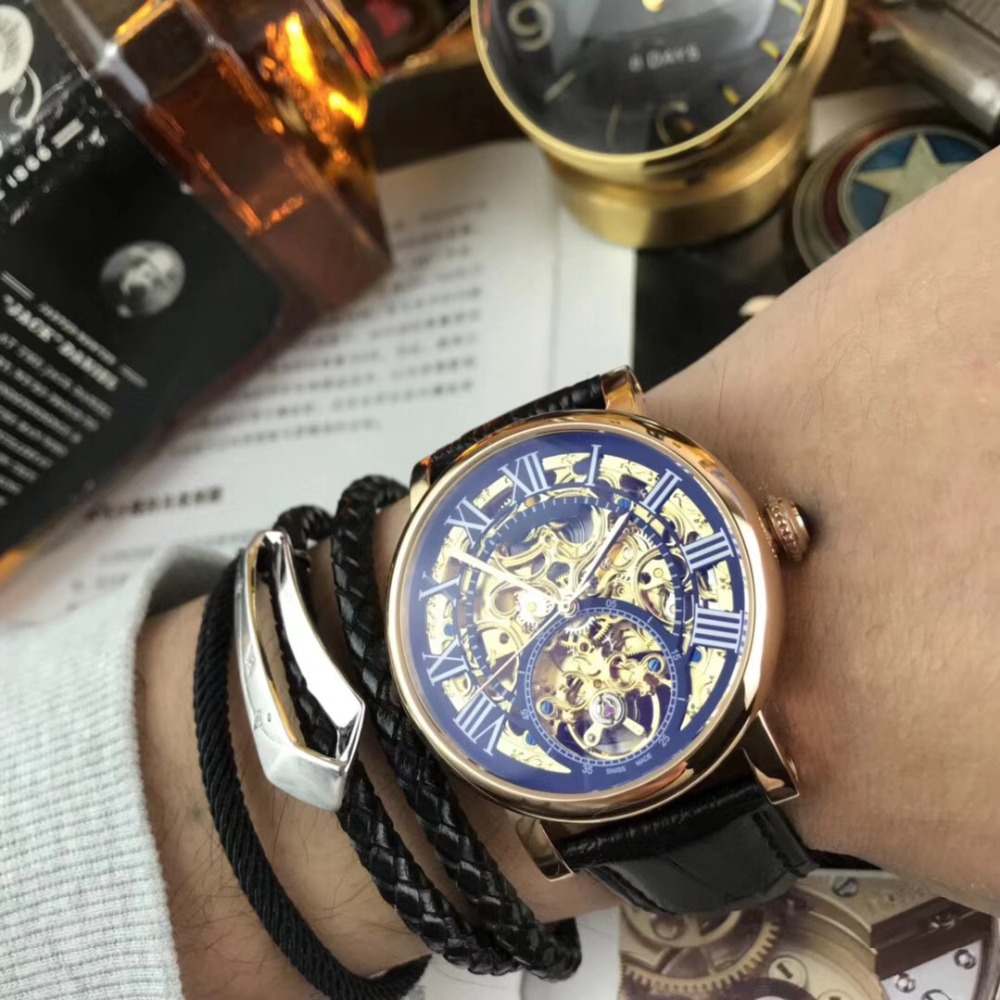 лучшая цена Mens Watches Top Brand Runway Luxury European Design Automatic Mechanical Watch S0717