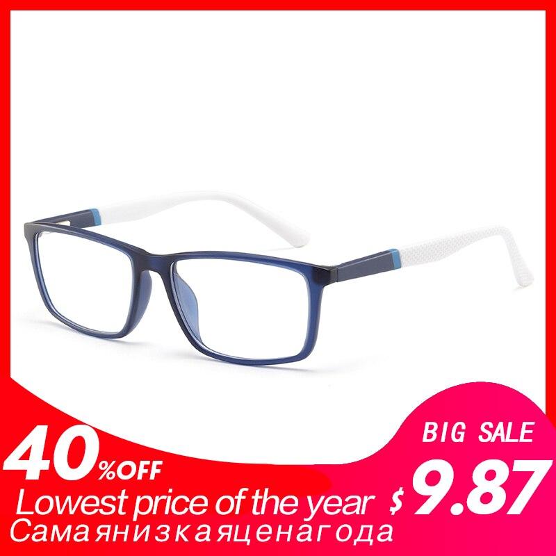 56f0a080787599 Beste Koop TR90 man bril brilmontuur clear retro mode optische bijziendheid  brillen frame   MOD.5028 Goedkoop