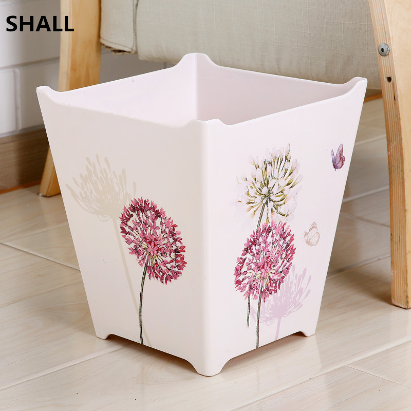 Shall European Melamine Square No Lid 10l Trash Bin Garbage Can Sundries Storage Bucket Bedroom Parlor