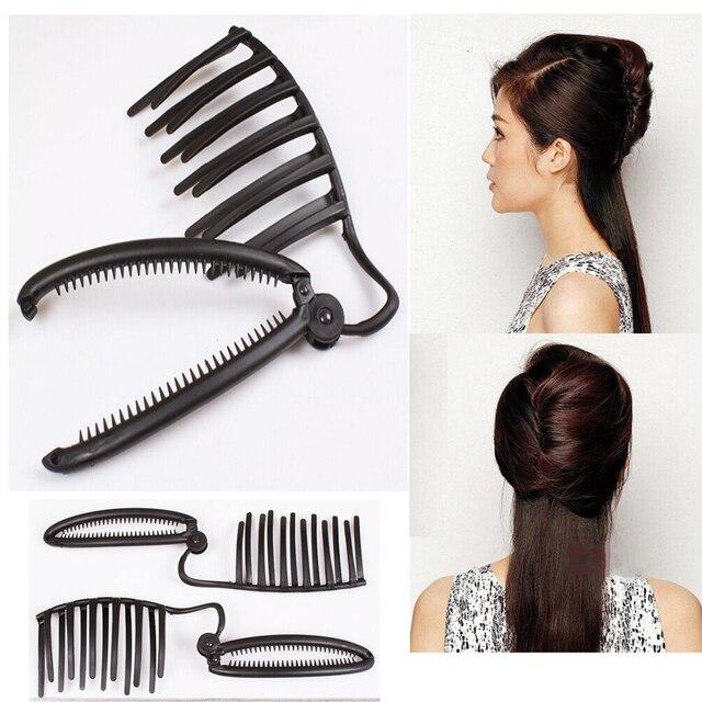 Women Fast Bun Hairdisk Quick Messy Bun Updo Headwear Hair Styling