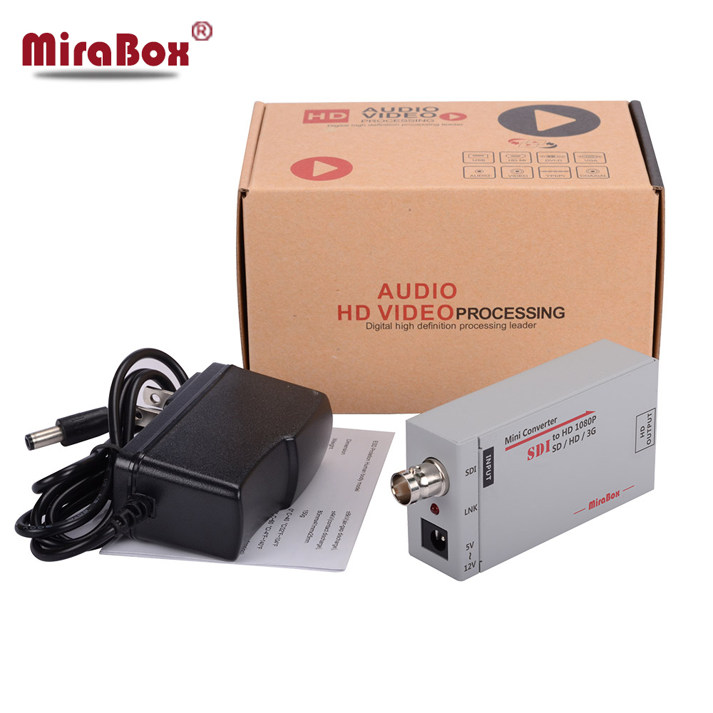 MiraBox Portable sdi to HDMI Converter Full HD to BNC Mini SD-SDI/HD-SDI/3G-SDI to HDMI Adapter for Driving HDMI Monitors
