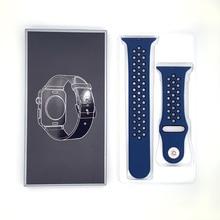 20 шт./лот, простые коробки для часов для Apple Watch, ремешок 38 мм, 40 мм, 42 мм, 44 мм, кожа/силикон/нейлон, бумажная упаковка, черная коробка