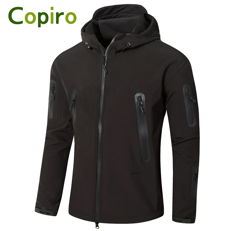 Copiro Outdoor Softshell Hiking Jacket Men Windbreaker Shark Skin Military Tactical Camouflage Clothing Ski Suit Climbing Coat outdoor men s spring summer quick dry breathable ultra thin tactical clothes male windbreaker skin coat rash guards jacket