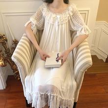 UNIKIWI kobiety pałac styl sukienka w stylu Vintage woal księżniczka koszule nocne koszule nocne Lolita koronki koszule nocne w stylu wiktoriańskim koszula nocna bielizna nocna salon tanie tanio Wokół szyi Połowa S-0010 Cotton lace Połowy łydki Wiosna Stałe