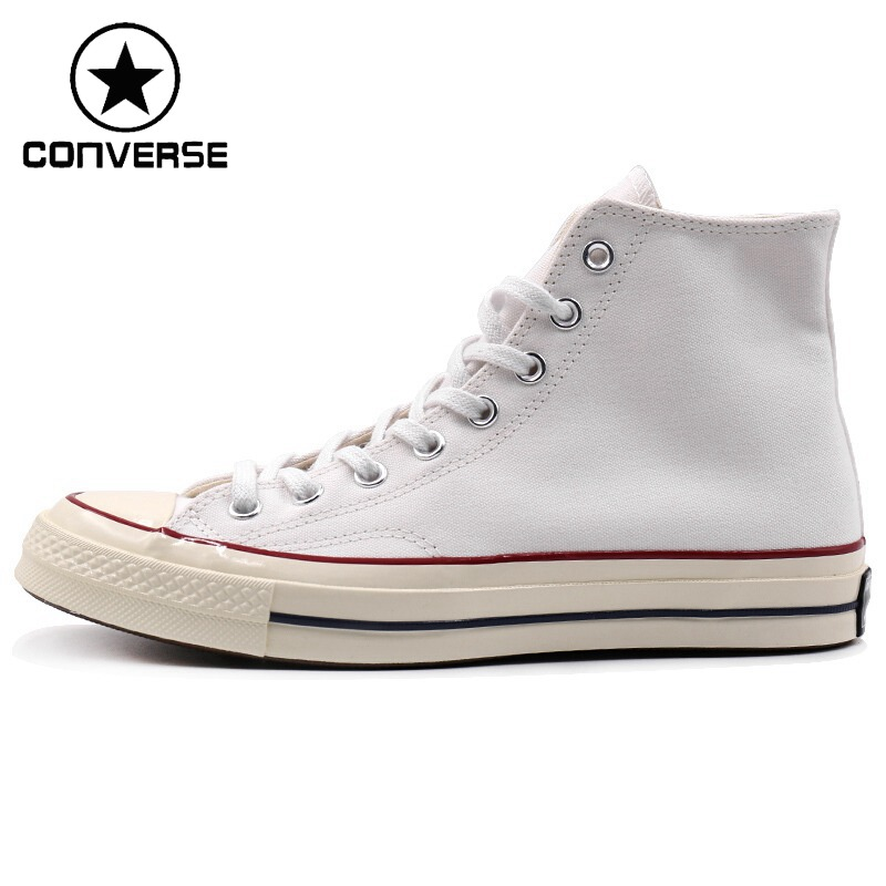 Original New Arrival 2018 Converse All Star ' 70 Unisex high top Skateboarding Shoes Canvas Sneakers plus pearl beaded bell sleeve blouse