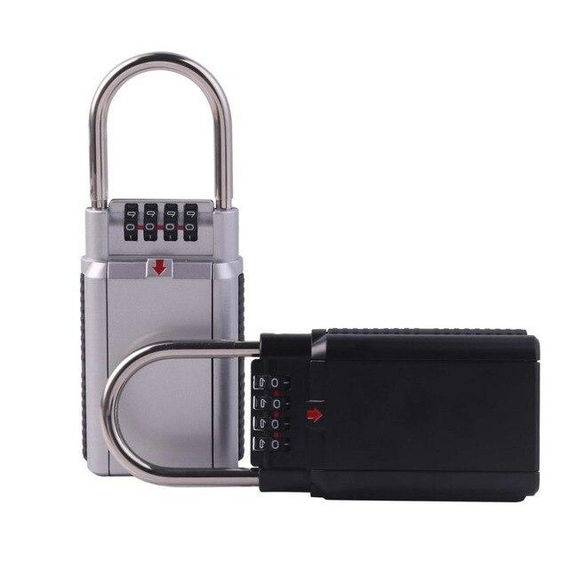 Key Safe Box Keys Storage Outdoor Password Lock Box Padlock Keys Hook Security Organizer Boxes For Home Factory Office Safe Lock
