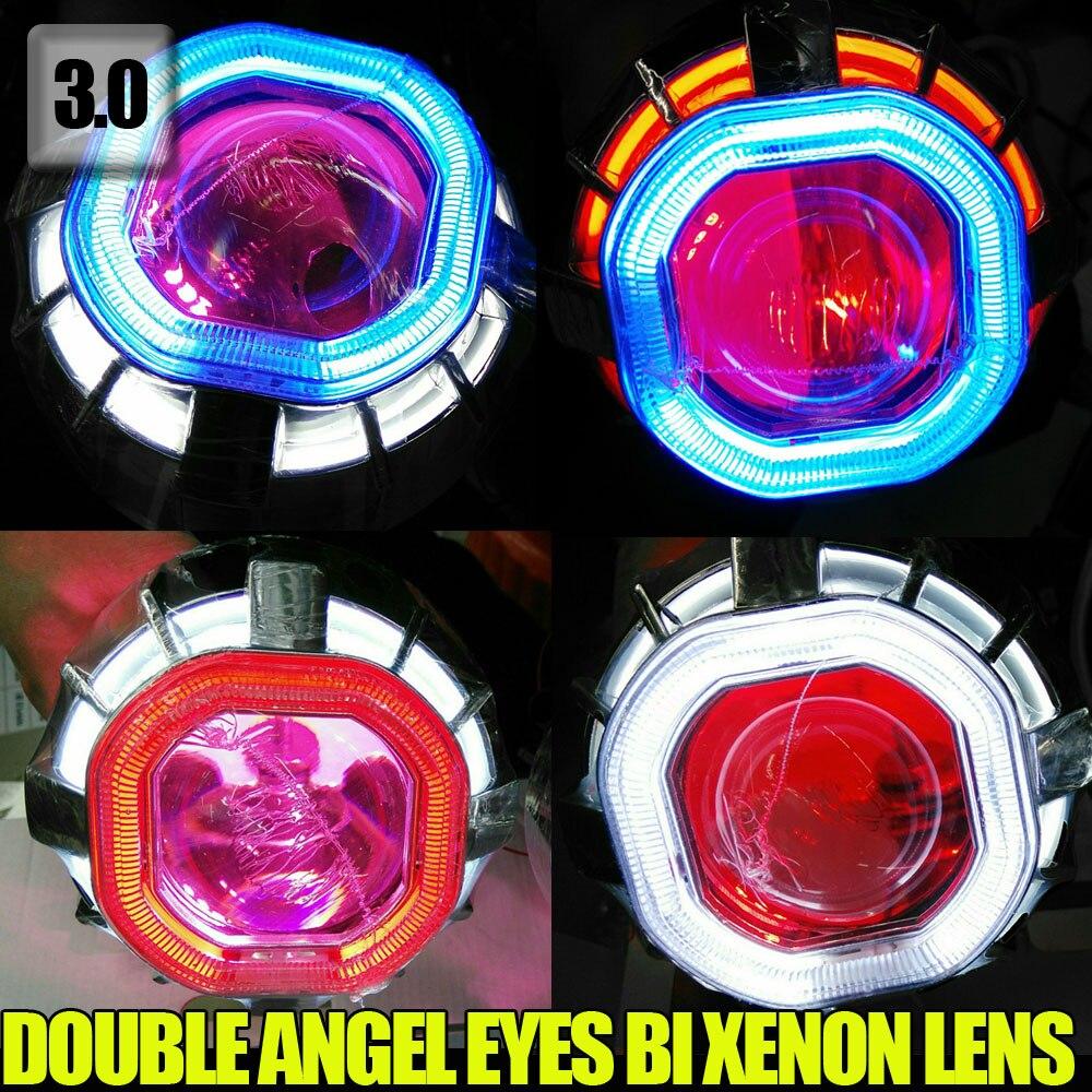 3.0 дюймов 35 Вт Площадь глаза Ангела двойной CCFL Ангел глаз авто фары HID объектив Репроектора Bi-ксенона с лампой Дьявол глаз
