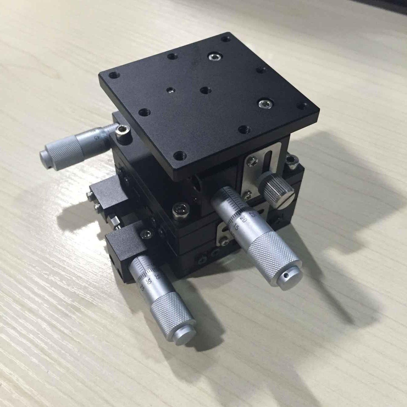 Nouvelle plate-forme de coupe XYZ 3 axes 60x60mm étape linéaire réglable plate-forme de déplacement manuel Table coulissante