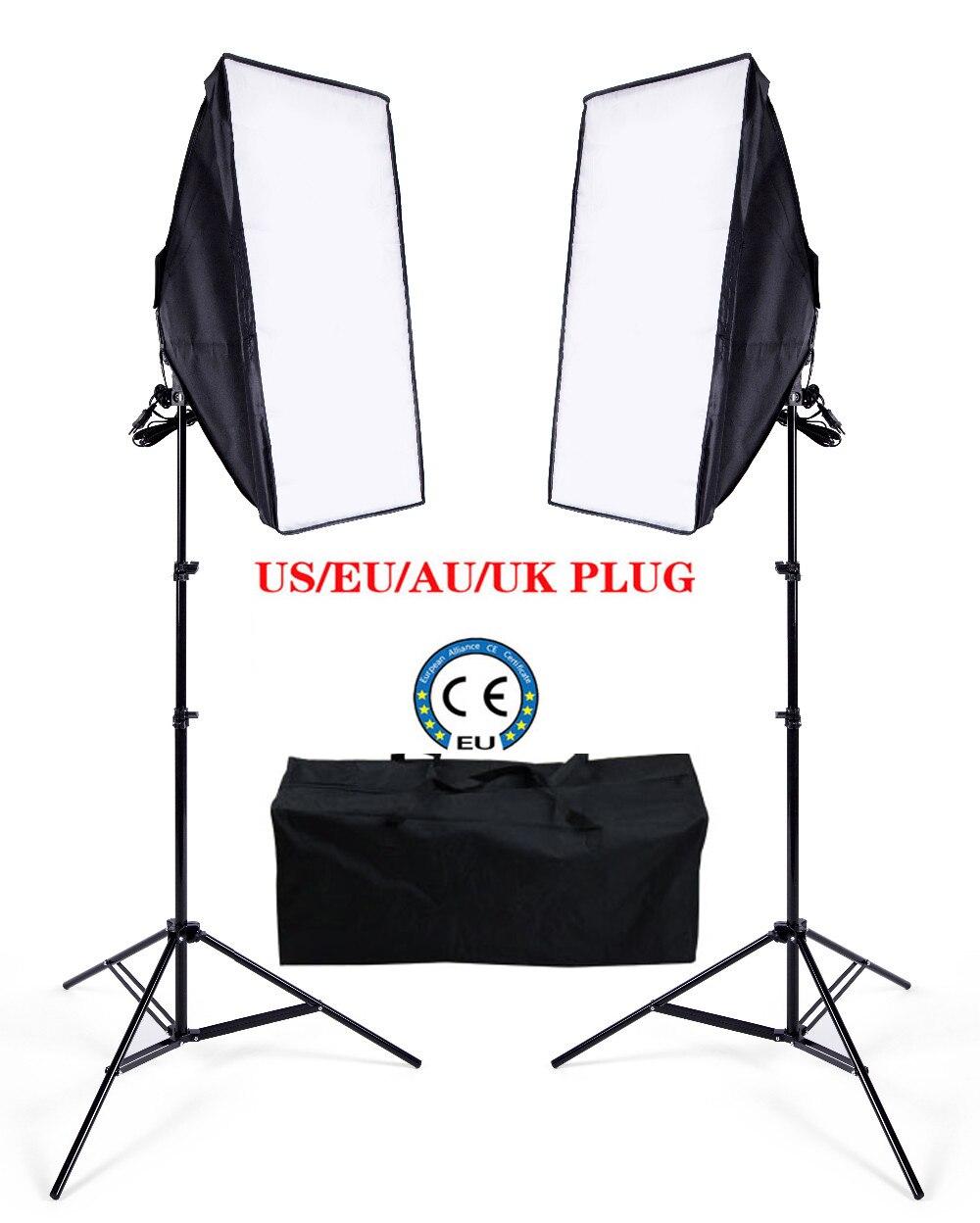 Ukraine Russian Eu Free Shipping Photo Stuido Soft Continuous Lighting Box Video Photo Lighting Kit 2