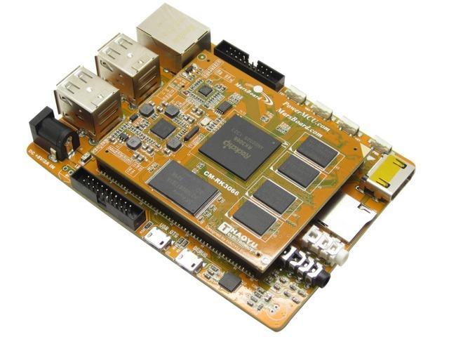 Módulo Marsboard RK3066 Quad Core Mali-400 MP GPU 1 GB DDR3 Dual Core ARM Cortex A9 HDMI Ethernet Placa de Desarrollo USB interfaz