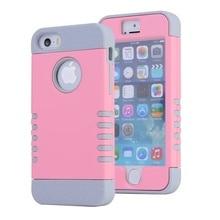 Armadura capa para iphone 5s 7 5c se 6 6 s mais caso de luxo projeto traseira dura rosa para o caso iphone 5 s menina capa de silicone à prova de choque