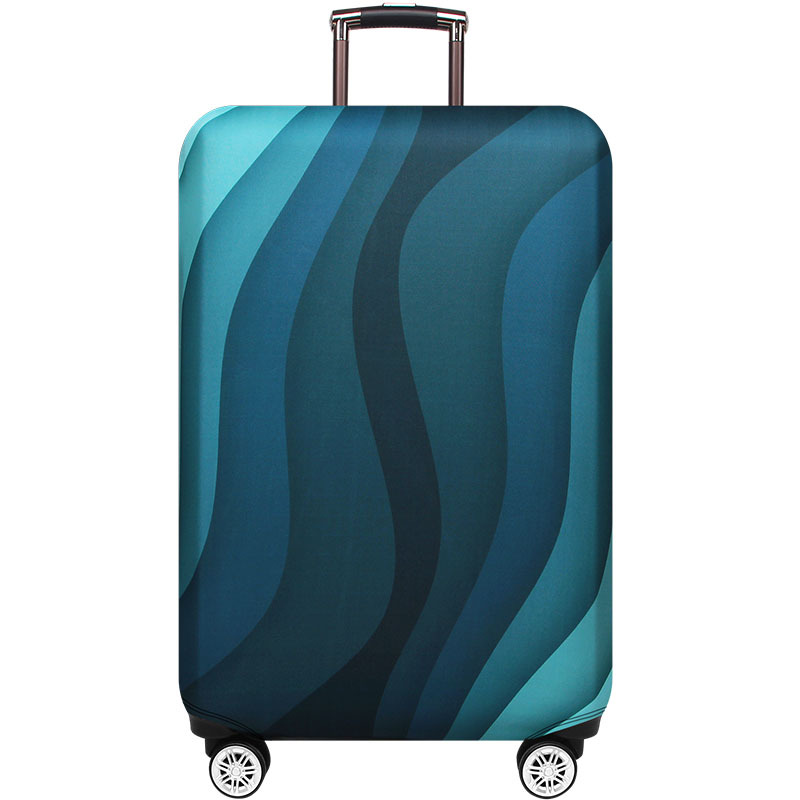 Angry Shark Seamless Pattern Sea Life Hand Drawn Illustration Luggage Cover Elastic Travel Suitcase Protector Fits 18-32 Inch XL