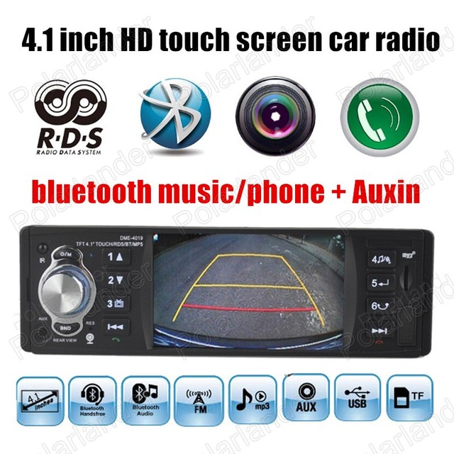 4.1 ''polegadas touch screen MP5 player de rádio Apoiar câmara de vista Traseira Do Carro câmera Do Carro de Áudio FM Rádios Auxin bluetooth RDS do bluetooth 1 Din