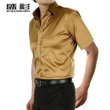 ZOEQO, новинка, брендовая летняя стильная Высококачественная шелковая мужская рубашка с коротким рукавом, повседневная мужская рубашка, camisa masculina camisas hombre - Цвет: 19 as show