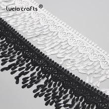 Lucia – tissu en dentelle pour femmes, 1/2/5yards, broderie glands, 90mm, bricolage, vêtement de couture, dentelle, N0603