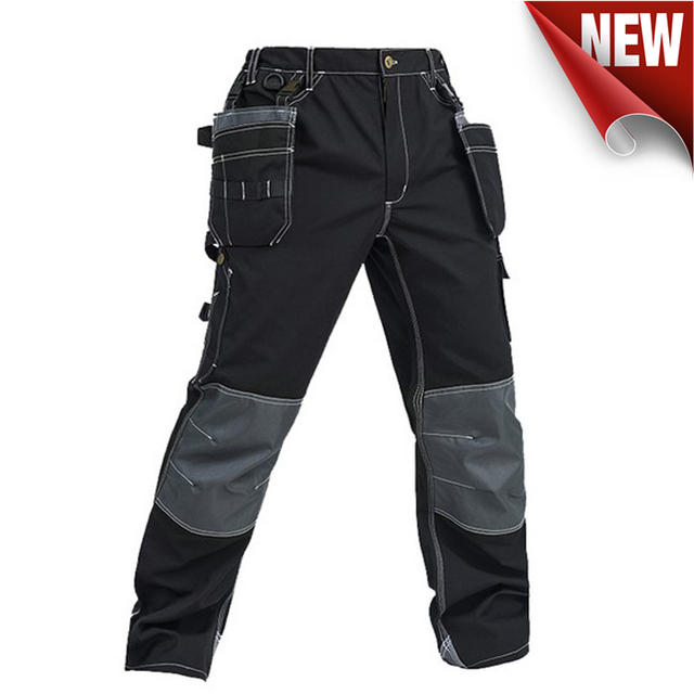 Bauskydd High quality men's wear-resistance multi-pockets work trousers cargo work pant workwear construction mechanic 4