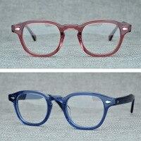 Acetate Brand Vintage Clear Lens Glasses Frame man Johnny Depp Retro Square Glasses Men Women Optical Eyeglasses Frames Eyewear