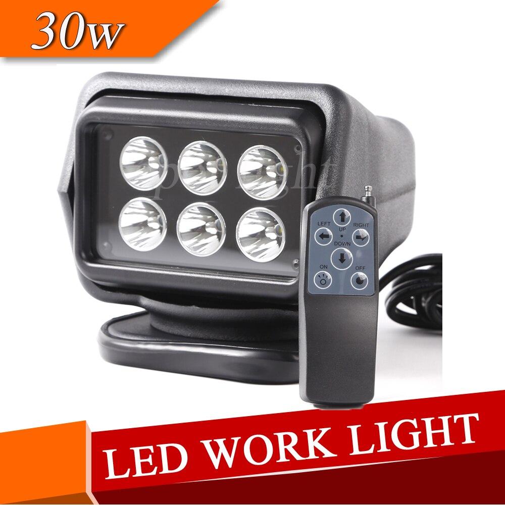 360 degree 30w LED Spot Beam Rotating Remote Control Work Light for Vehicles Protection Emergency Lighting levett caesar prostate massager for 360 degree rotation g spot