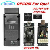 Opcom v1.99 v5 op com v1.95 v1.78 v1.70 v1.65 v1.59 para opel ferramenta de diagnóstico pic18f458 & ftdi chip nec relé OP-COM 120309a