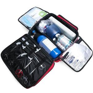 Image 2 - Outdoor First Aid Kit Refrigeratible Sports Red Nylon Waterproof Cross Messenger Bag Family Travel Emergency Bag DJJB026