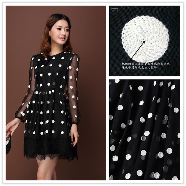Cheap Organza Embroidery Fabric Black And White Circle Geometric Best African Dress Patterns For Sewing
