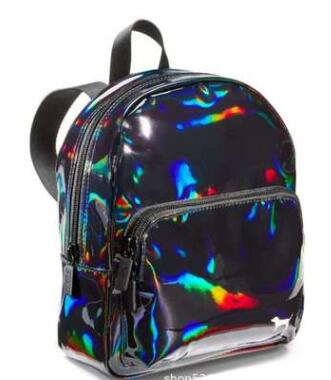 Large Capacity Tote Bag Pink Stripe Duffle Bag Fit Beach Shoulder Bag Weekend Vs Women Bolsa Mini Backpack