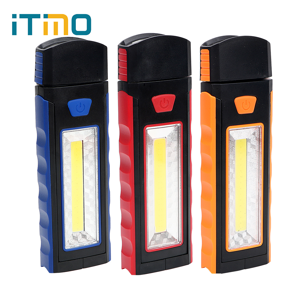 ITimo 3W COB Adjustable Outdoor Lamp Flashlight Magnet Adsorption Inspection Lamp LED Wo ...